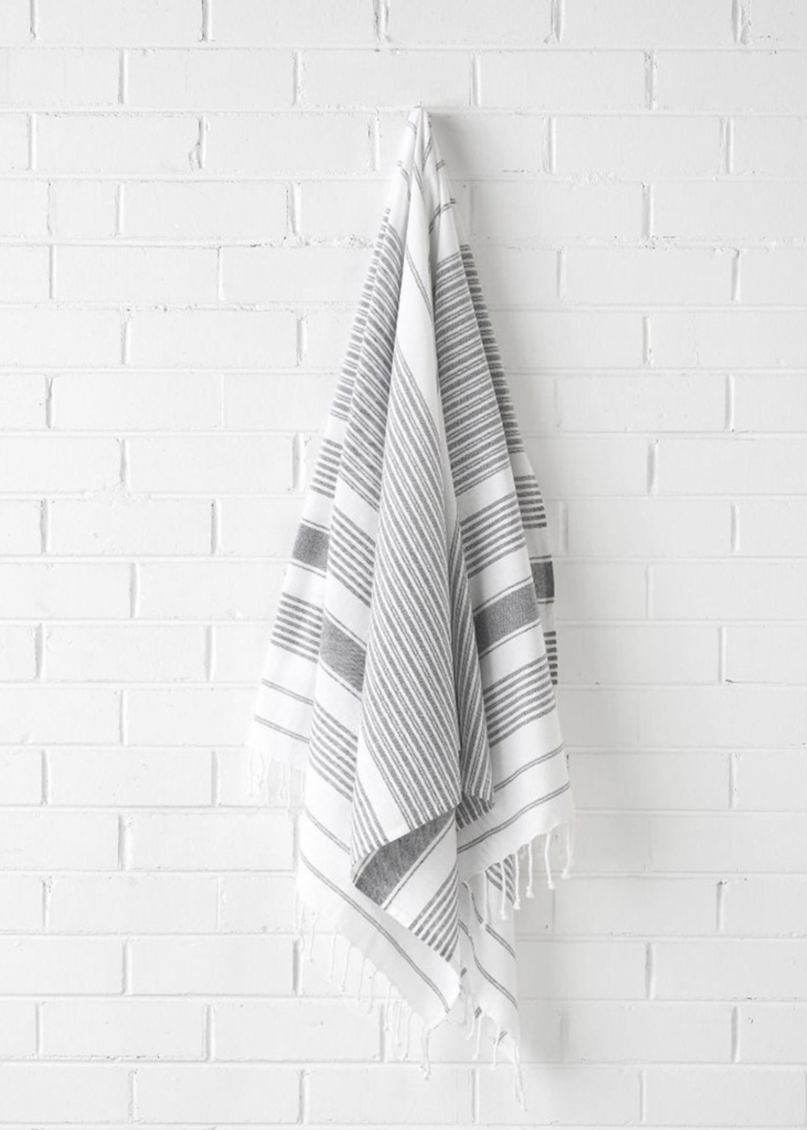 Linen House Beach Towel Hammam Charcoal