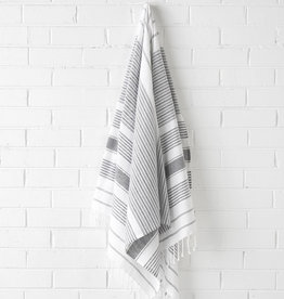 Linen House Beach Towel Hammam Charcoal