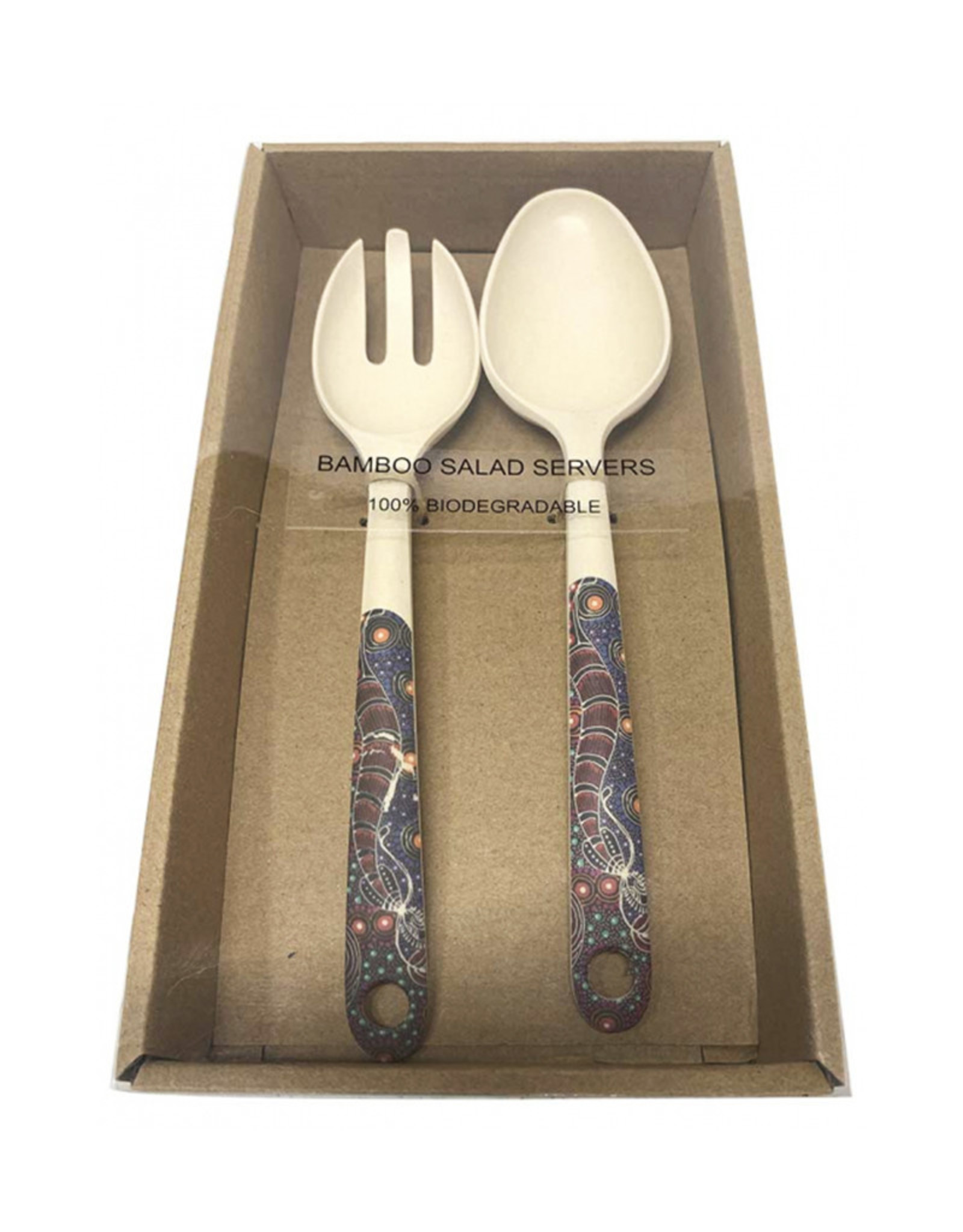 Utopia Bamboo Salad Server Set 147 - Colleen Wallace