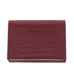 Gabee Products Nessa Croc Clutch - Red