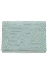 Gabee Products Nessa Croc Clutch - Mint