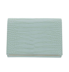 Gabee Products Nessa Croc Clutch - Mint