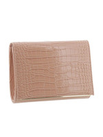 Gabee Products Nessa Croc Clutch - Blush