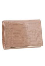 Gabee Products Nessa Croc Clutch - Blush