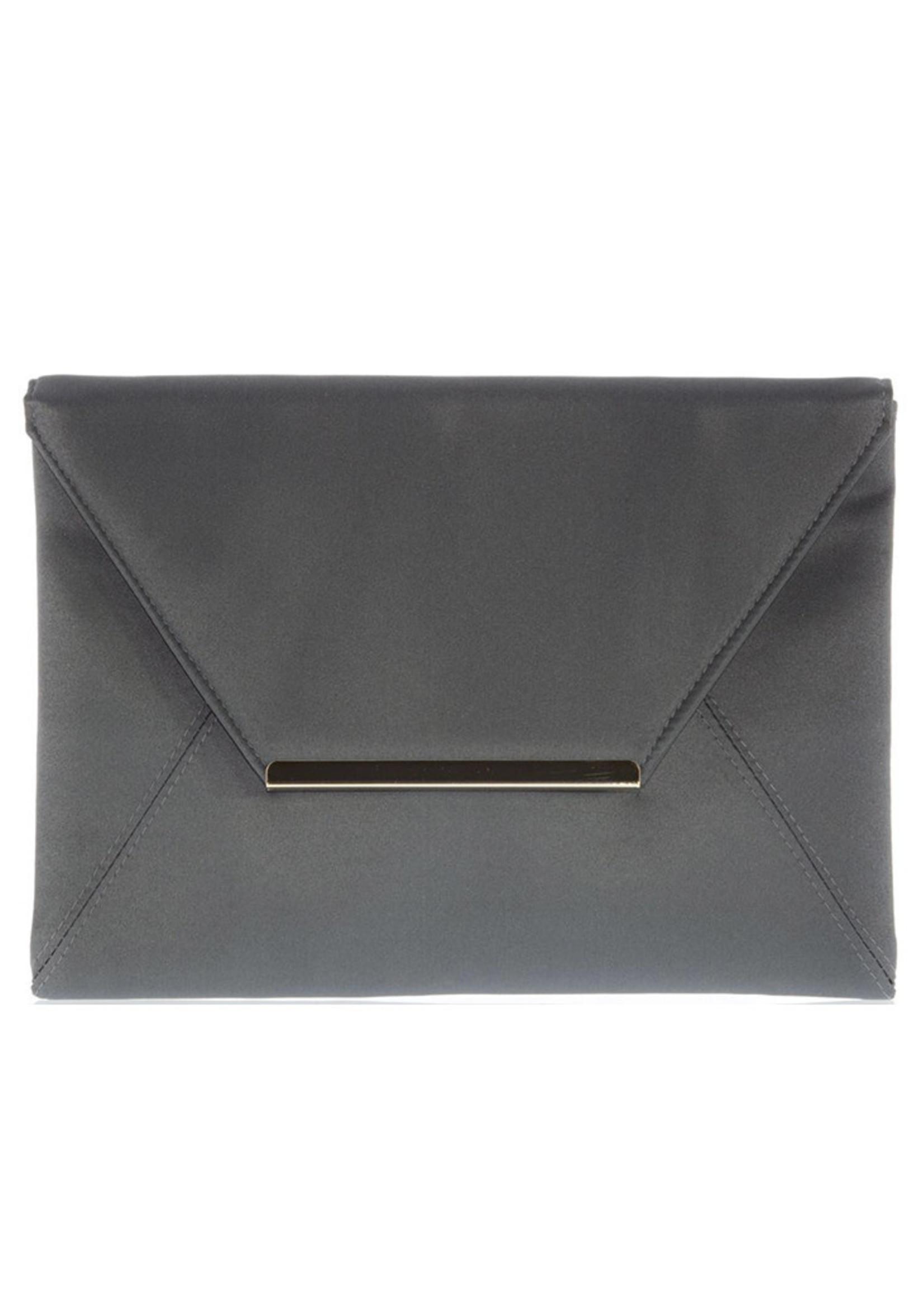 Gabee Products Amy Matt Satin Envelope Clutch - Steel