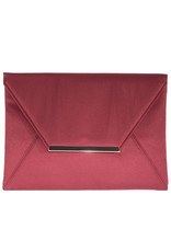 Gabee Products Amy Matt Satin Envelope Clutch - Cherry