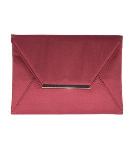Gabee Products Amy Matt Satin Envelope Clutch - Cherry