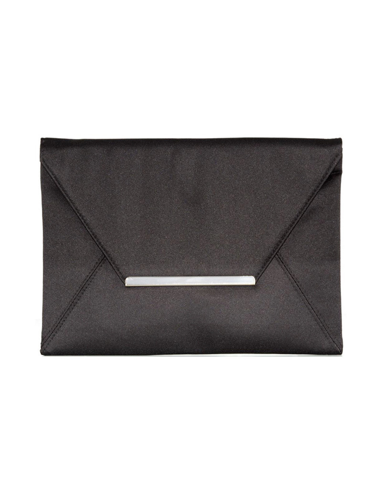 Gabee Products Amy Matt satin Envelope Clutch - Black