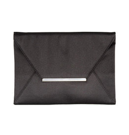 Gabee Products Amy Matt satin Envelope Clutch - Black
