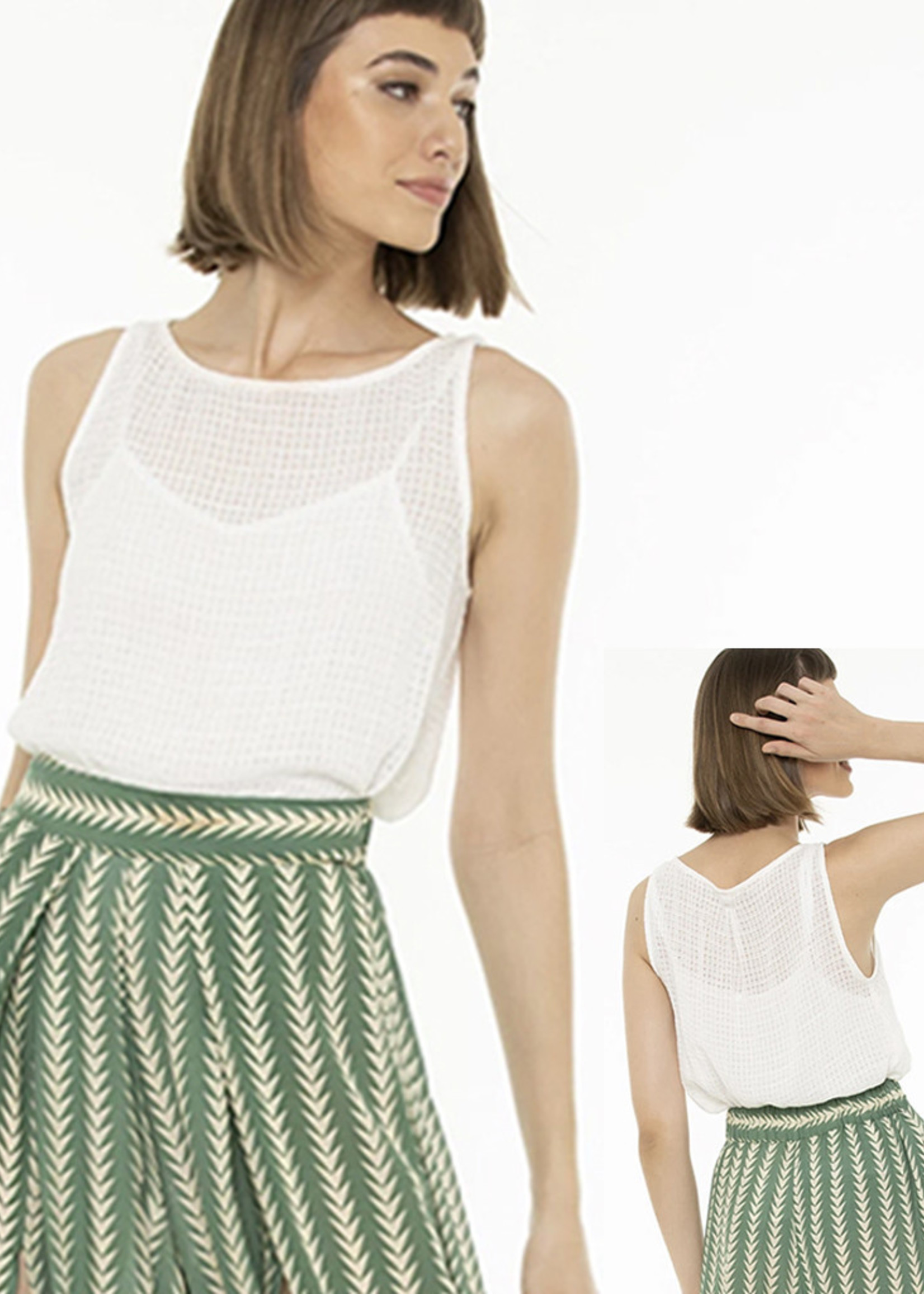 Totem Mual Blouse in White