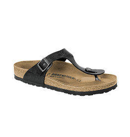 Birkenstock Gizeh -  Birko-Flor Graceful in Licorice (Classic Footbed - Suede Lined)