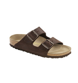 Birkenstock Arizona - Natural Leather in Dark Brown