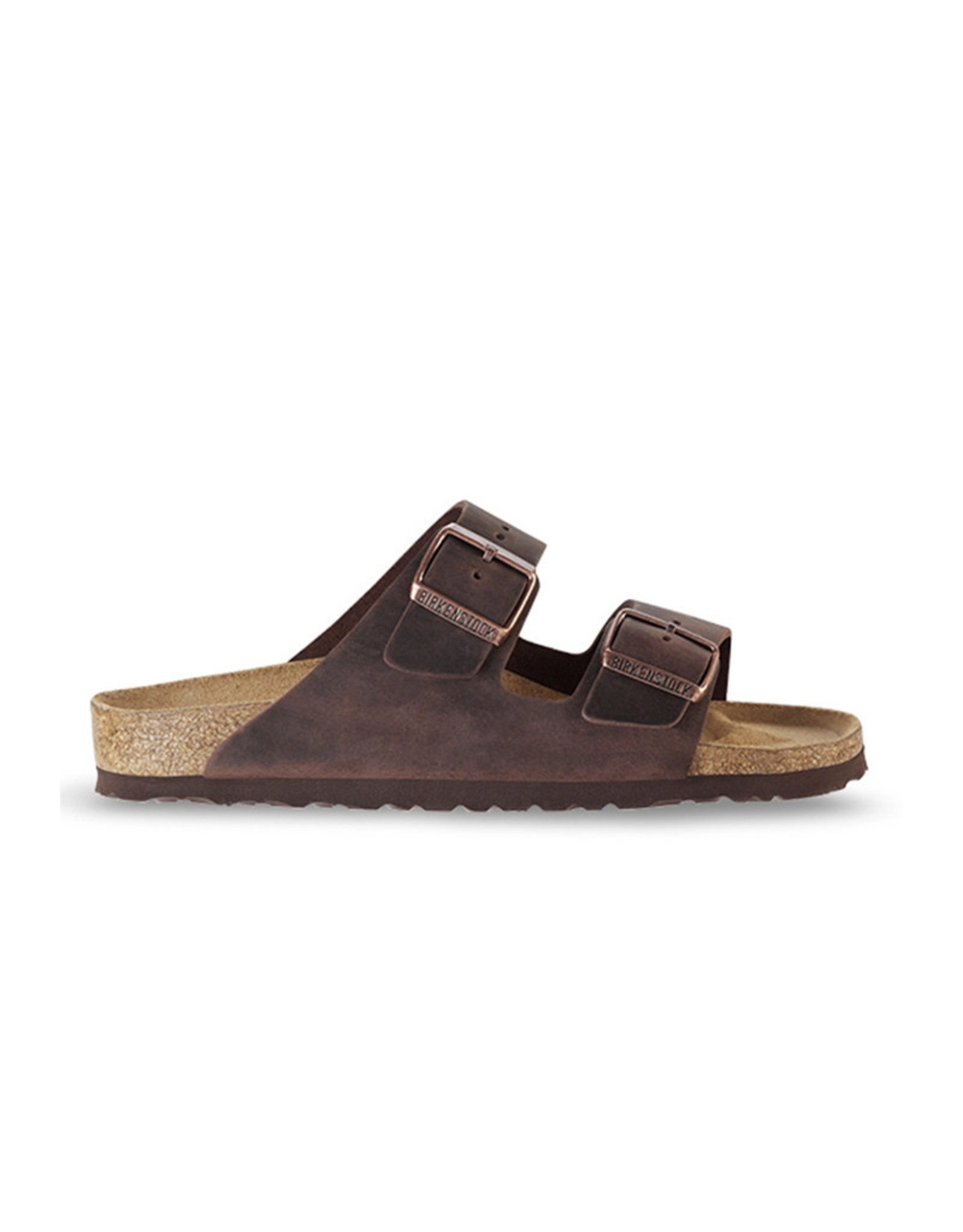 Birkenstock Arizona - Natural Leather in Dark Brown