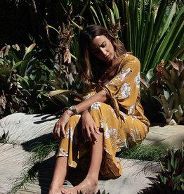 Sanctum Sepia Dress - 100% Rayon