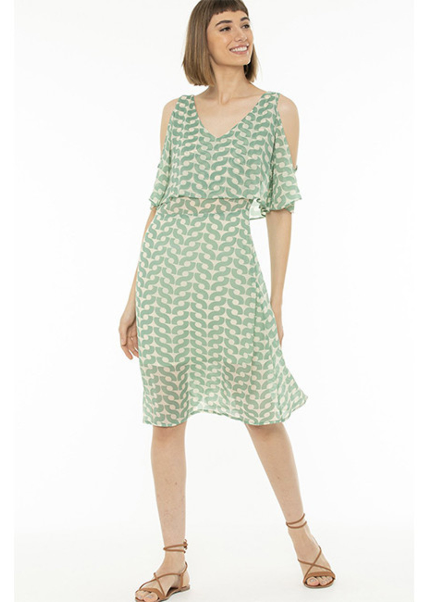Totem Segera Dress in Warm Green