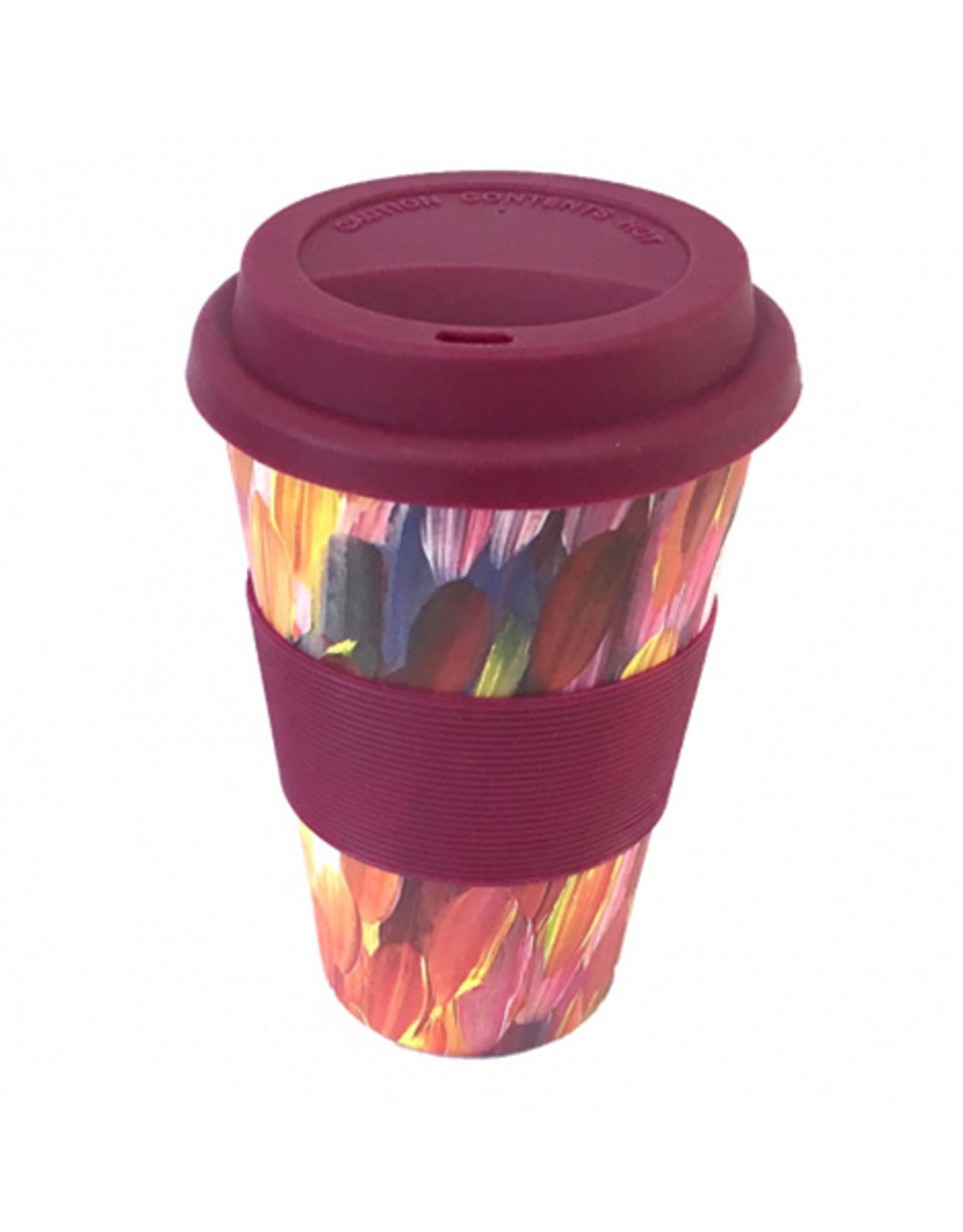 Utopia Bamboo Eco Coffee Cup 137 - Gloria Petyarre