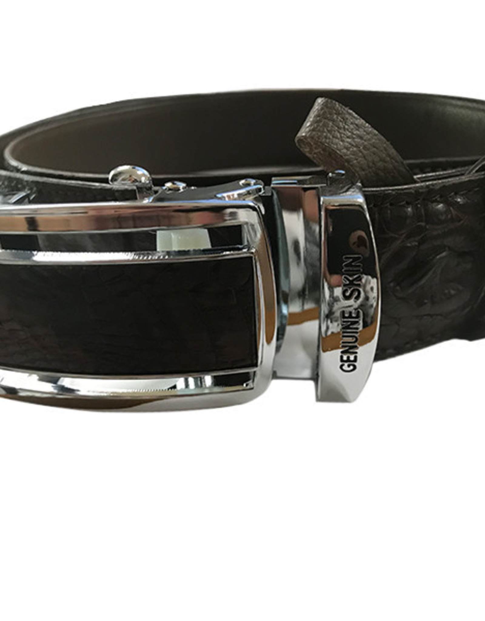 Crocodile & Stingray Products Crocodile Skin Belt - Brown