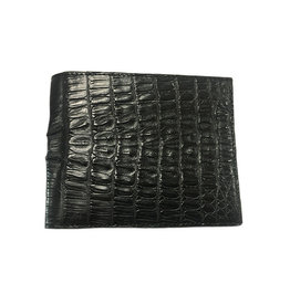 Crocodile & Stingray Products Mens Crocodile Wallet - Black