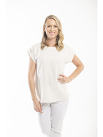 Orientique Essentials Linen Top in Sand