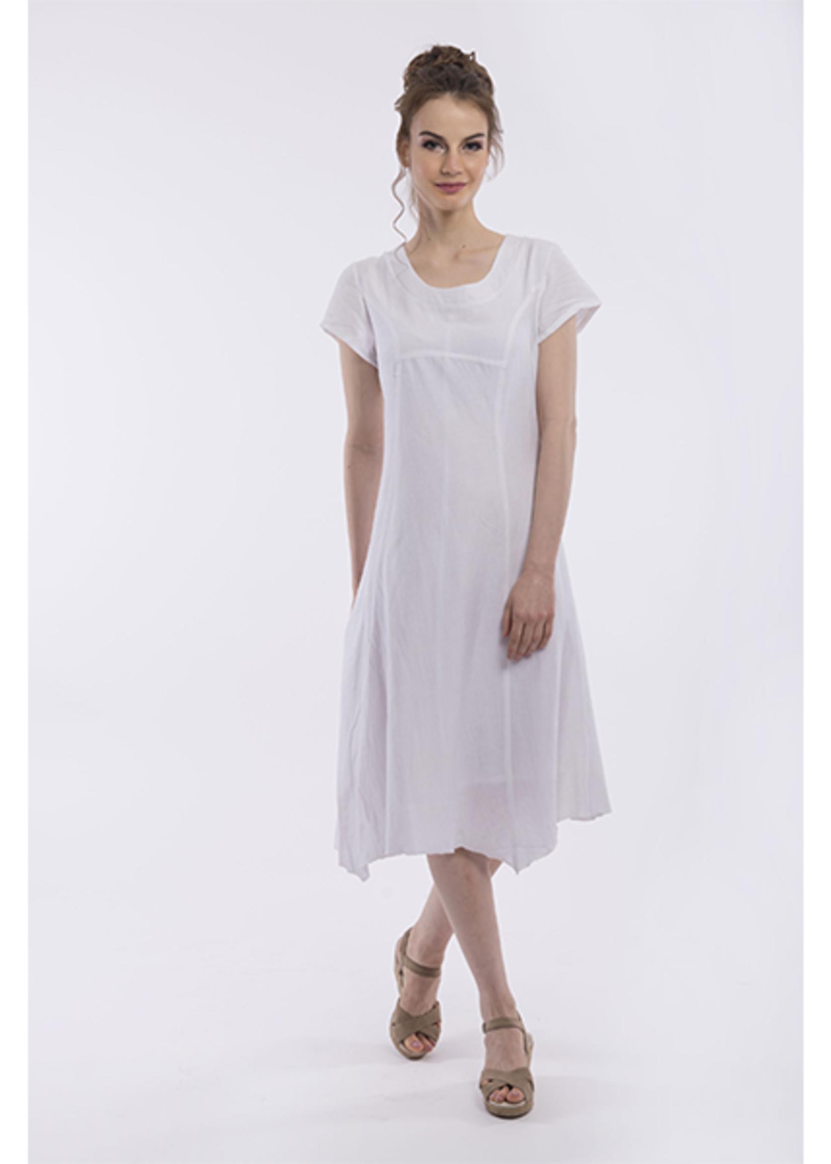Orientique Linen Dress in White