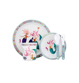 Mermaids 5 Piece Kids Dinner Set