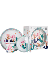 Mermaids 5 Piece Kids Dinner Set