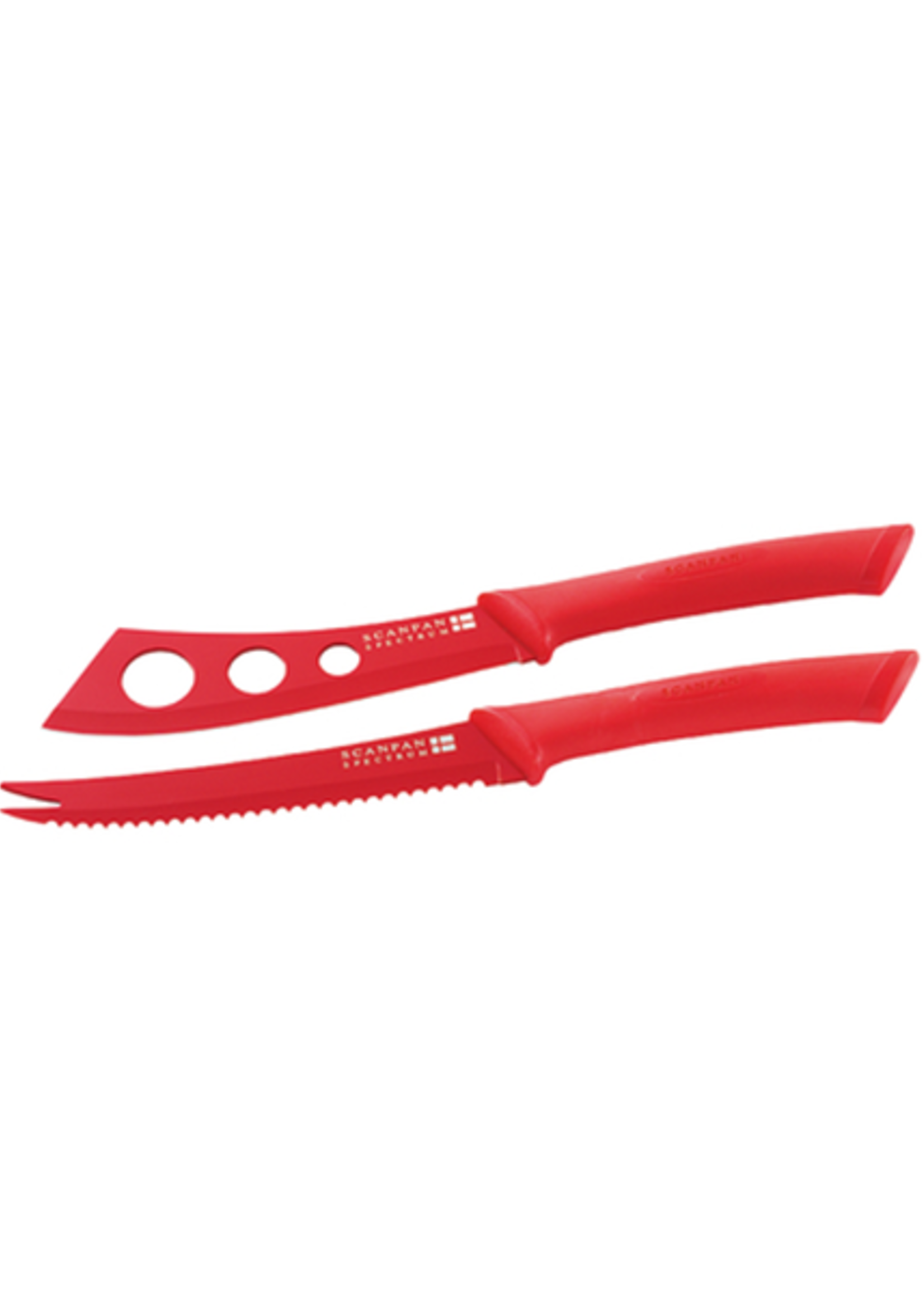 Spectrum Cheese Knife Set - Red