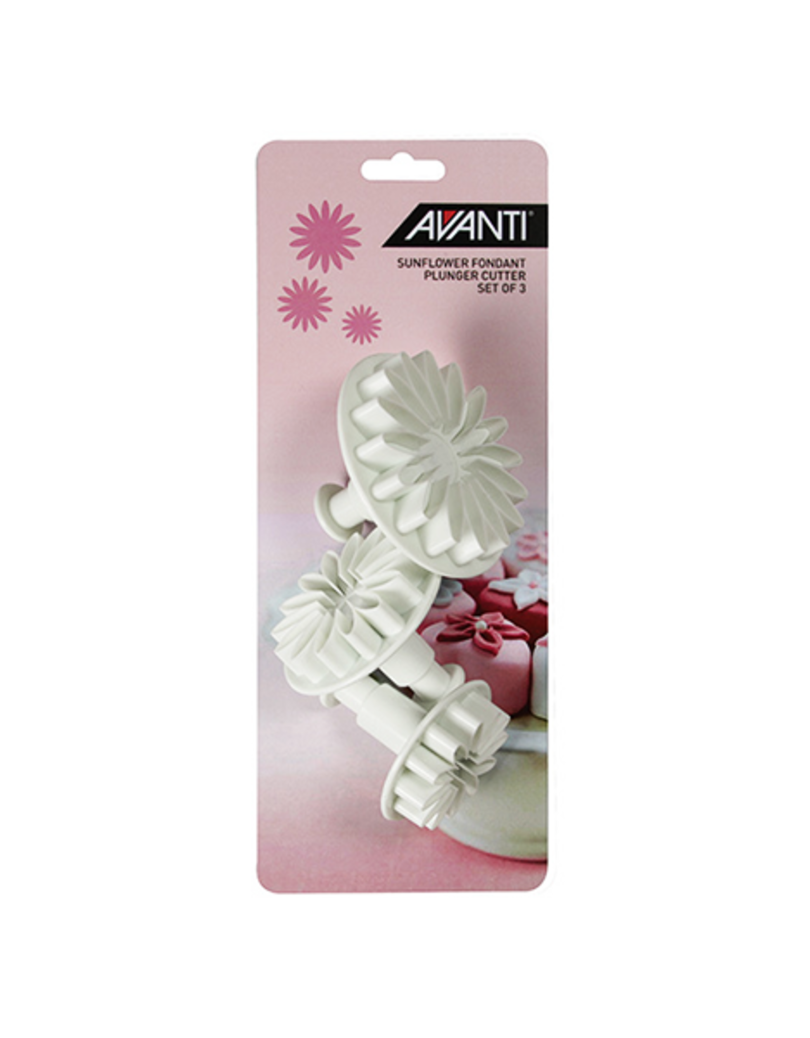 Avanti Homewares Sunflower Fondant Plunger Cutter Set