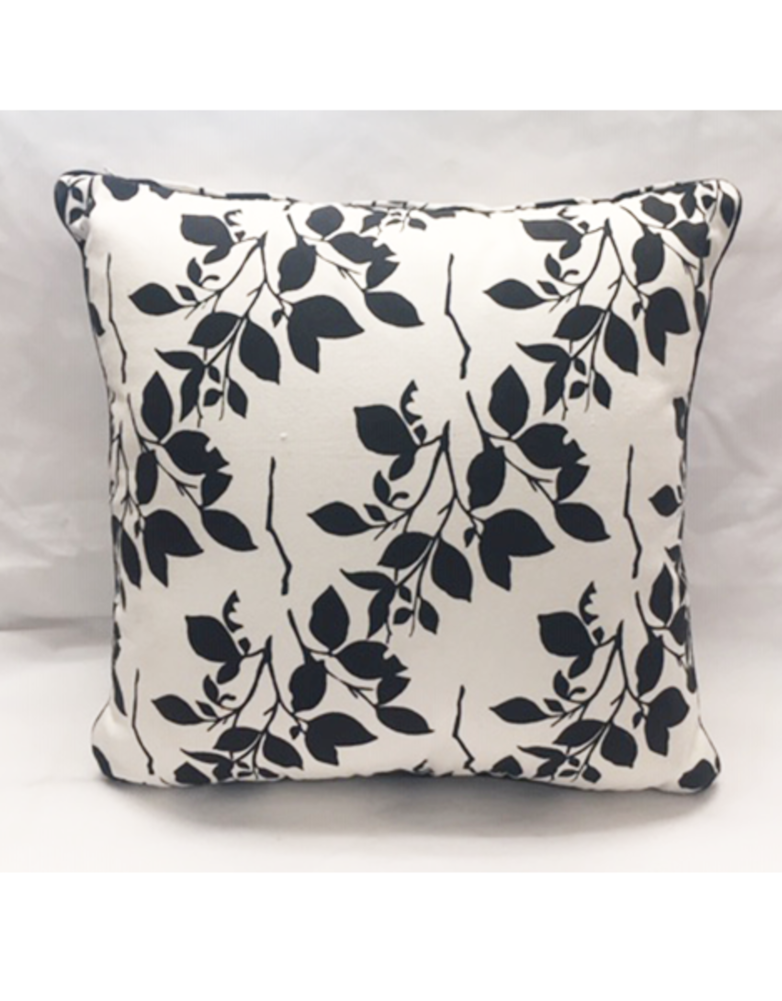 Craft Studio Black and White Floral Cushion Cover 40x40cm