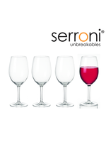 Serroni Unbreakable 4 Piece Wine Glass Set