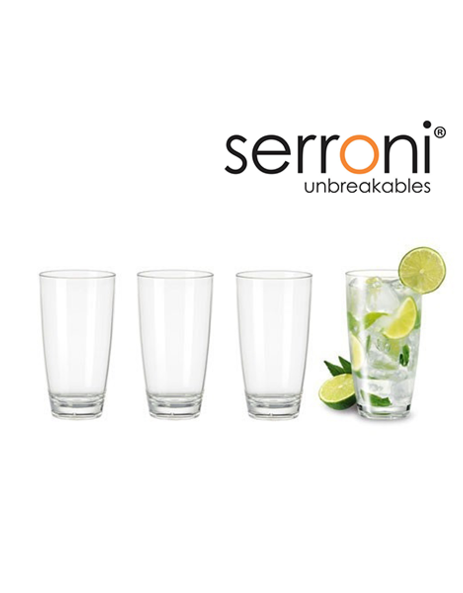 Serroni Unbreakable 4 Piece Tumbler Set