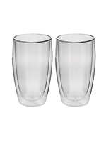 Avanti Homewares Caffe Twin Wall Glass 400ml 2PC Set