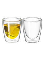 Avanti Homewares Twin Glass Wall Caffe 150ml Set 2