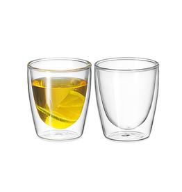 Avanti Homewares Twin Glass Wall Caffe 150ml Set 2