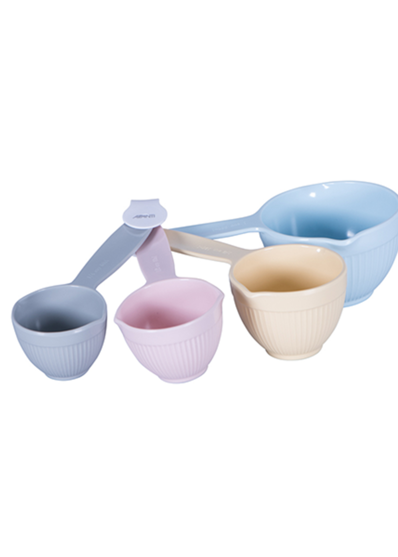 Avanti Homewares Ribbed Measuring Cups - Pastel