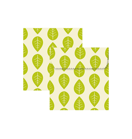 Beeswax Sandwich Pouch - Leaves S/2
