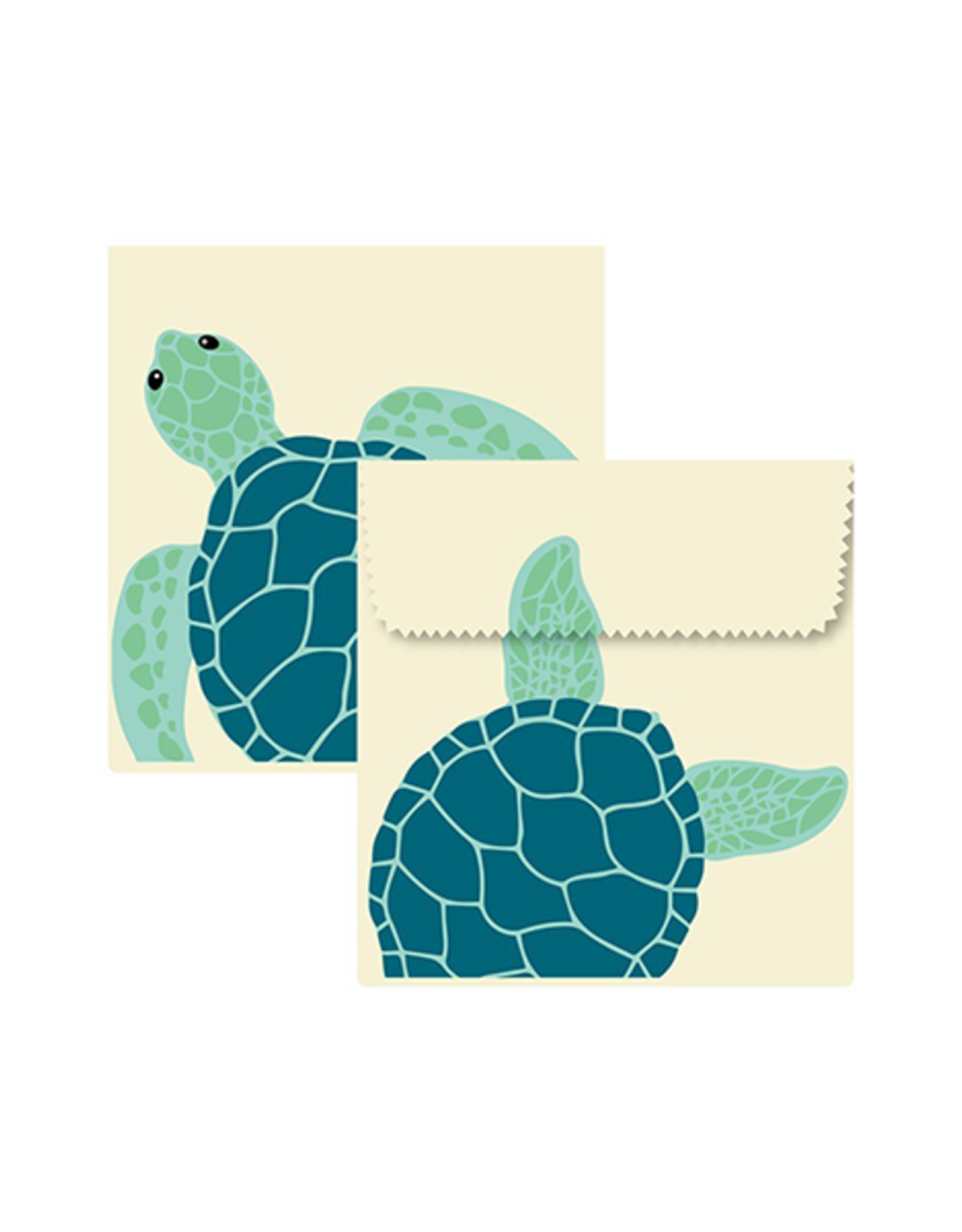 Beeswax Sandwich Pouch - Turtle S/2