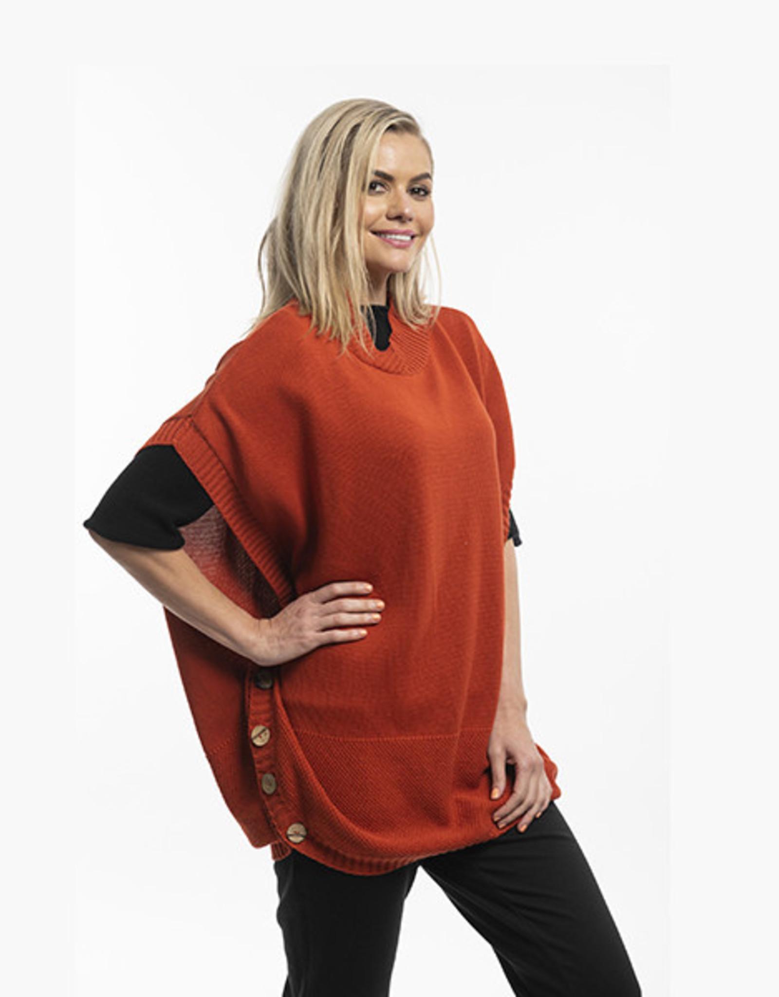 Orientique Knit Poncho Rust 11329