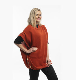 Orientique Knit Poncho Rust 11329