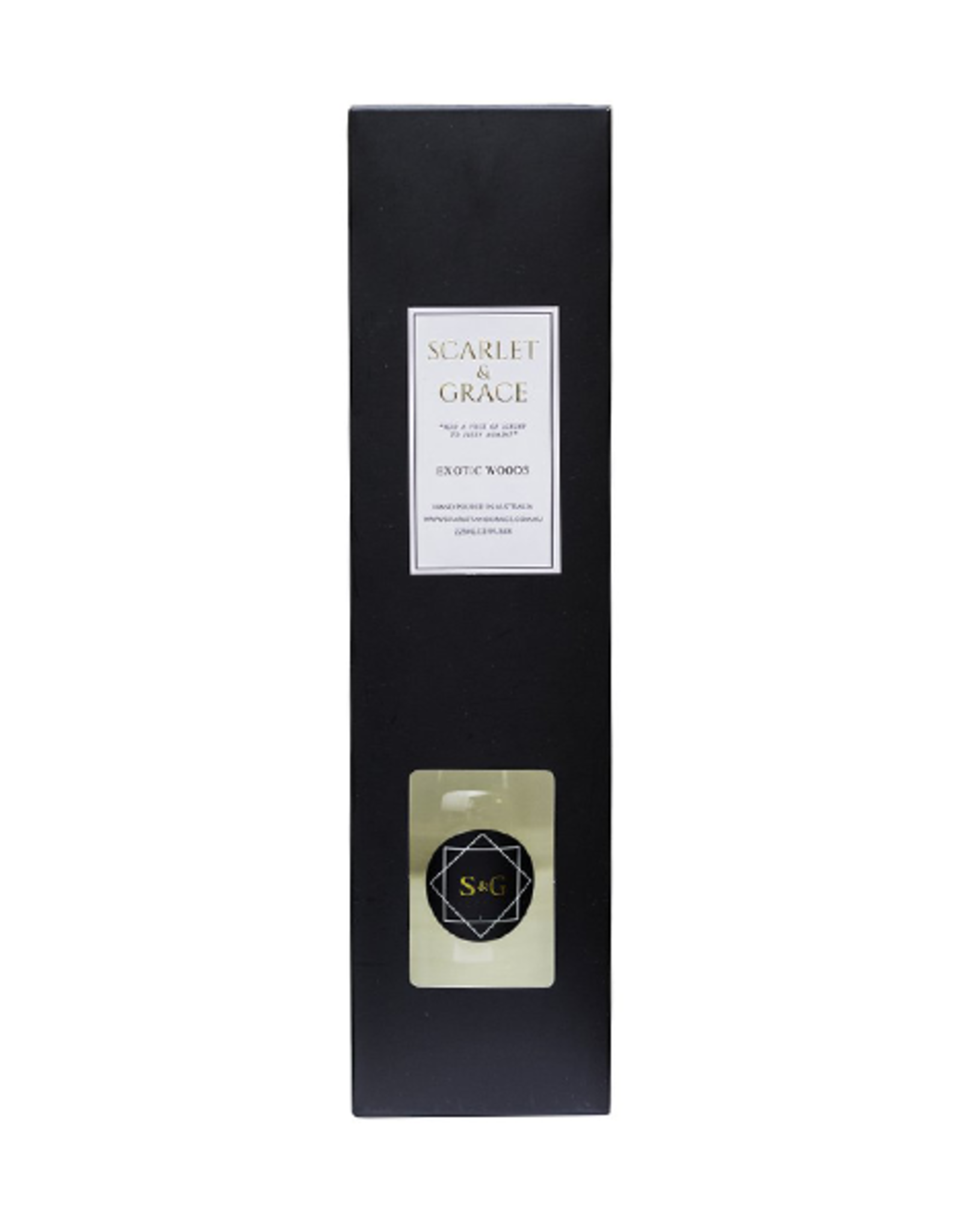 Scarlet & Grace 225ml Diffuser - Exotic Woods