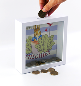 Beatrix Potter Peter Rabbit Money Bank Getting into Mischief