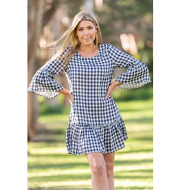 Grayson Bell Sleeve Dress in Navy