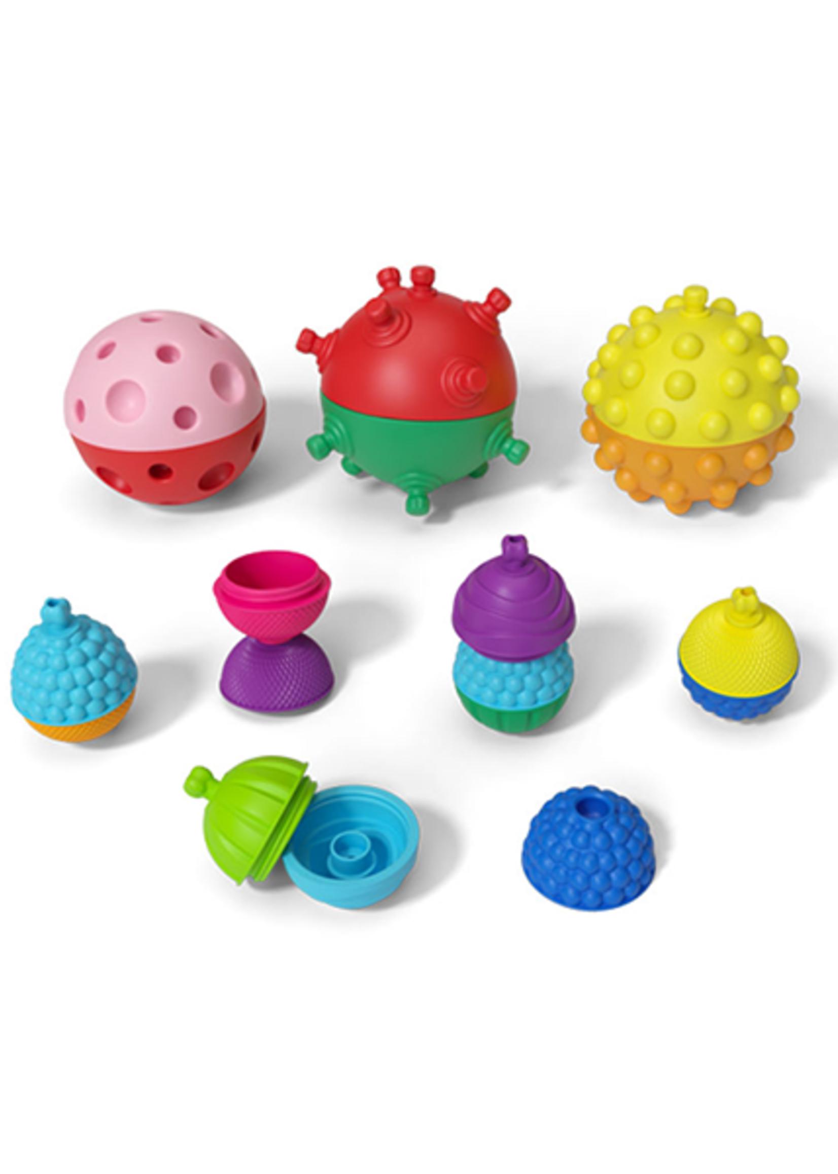 3 Sensory Balls With 12 Pce Beads