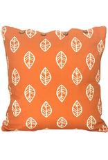 Craft Studio Leaf Print Burnt Orange Cushion Cover 40x40cm