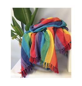 Craft Studio Exotic Bright Stripe Throw 230x250cm