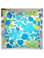Craft Studio Hibiscus Turquoise Cushion Cover 60x60cm