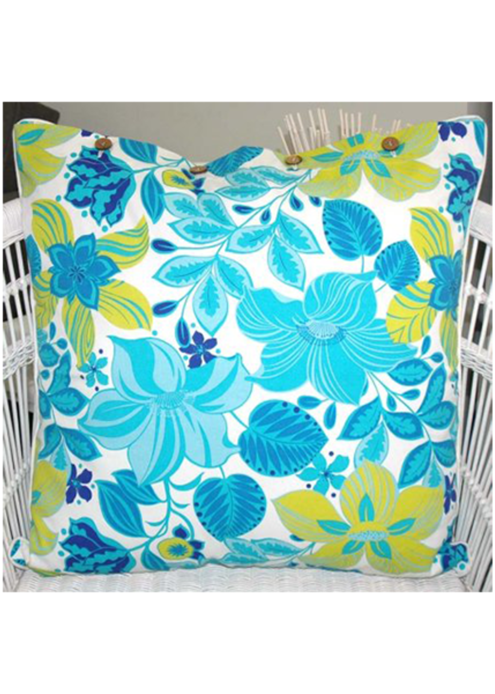 Craft Studio Hibiscus Turquoise Cushion Cover 60x60cm