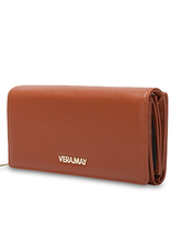 Vera May LW3LS Leather Wallet Tan