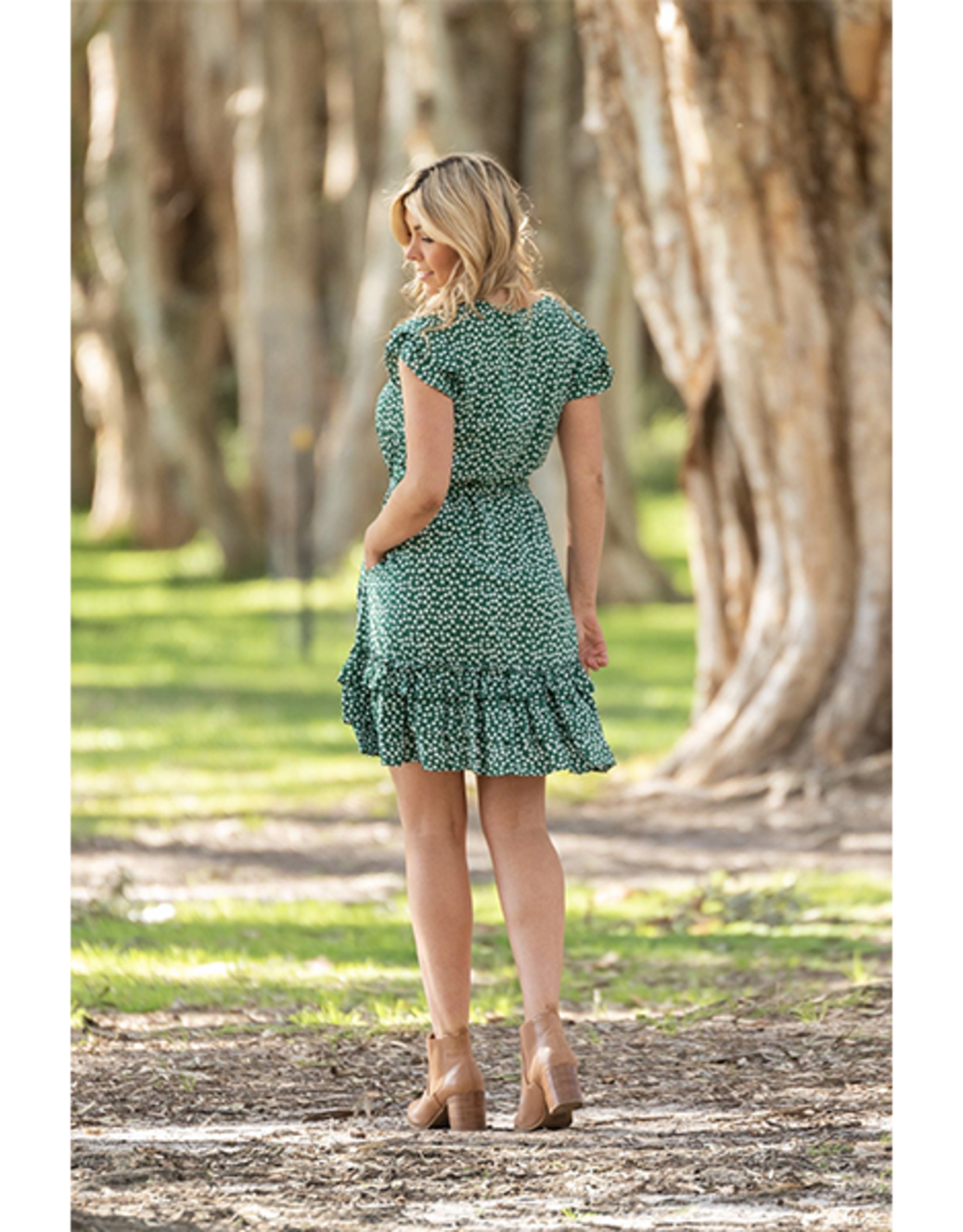 Winnie Tier Dress in Green
