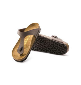 Birkenstock Gizeh -  BirkiBuc in Mocca (Classic Footbed - Suede Lined)